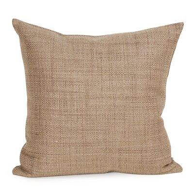 Abraham Texture Coco Soft Burlap Throw Pillow Color: Stone, Size: 20 H x 20 W