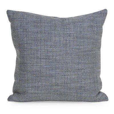 Abraham Texture Coco Soft Burlap Throw Pillow Color: Sapphire, Size: 20 H x 20 W