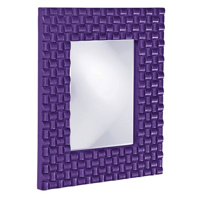 Weave Texture Resin Mirror Finish: Royal Purple