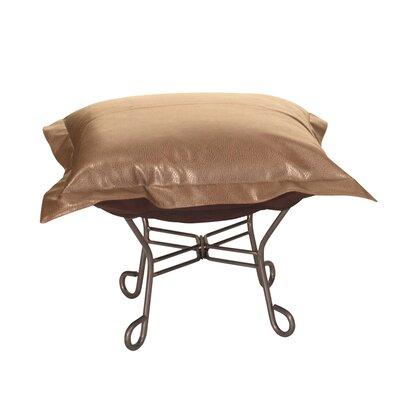 Scroll Puff Avanti Ottoman Upholstery: Bronze
