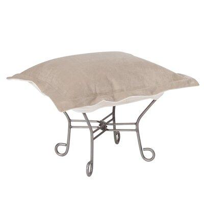 Azaria Scroll Ottoman Upholstery: Bella Sand, Frame: Titanium