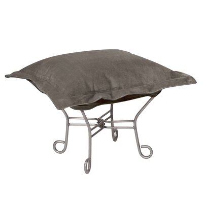 Azaria Scroll Ottoman Upholstery: Bella Pewter, Frame: Titanium