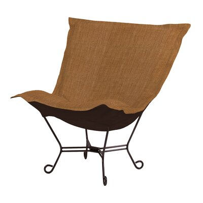 Azaria Scroll Lounge Chair Color: Coco Topaz