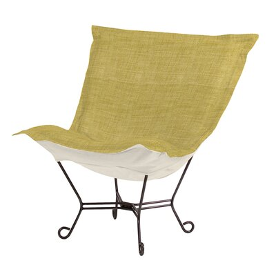 Azaria Scroll Lounge chair Color: Coco Peridot