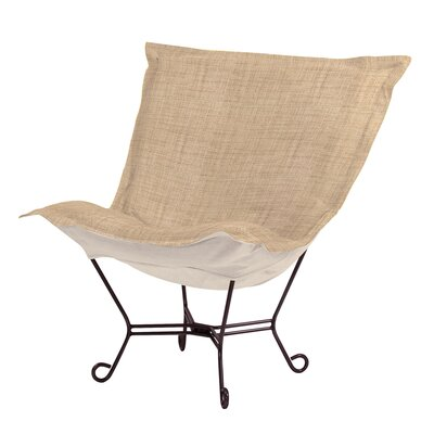 Azaria Scroll Lounge Chair Upholstery: Coco Stone