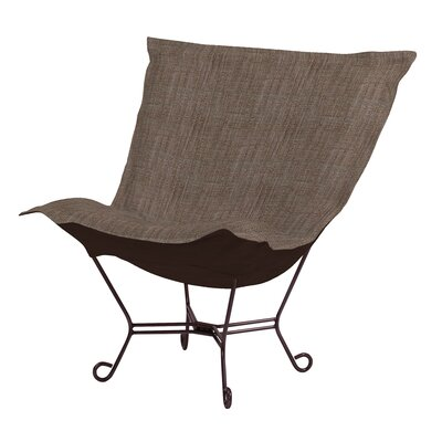 Azaria Scroll Lounge chair Color: Coco Slate