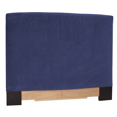 Headboard Slipcover Size: Twin, Upholstery: Sterling Charcoal