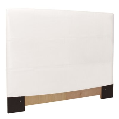 Headboard Slipcover Size: Full/Queen, Upholstery: Avanti White