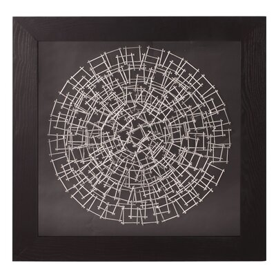 'Abstract Round Nail' Framed Graphic Art
