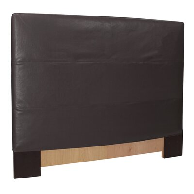 Headboard Slipcover Size: Full/Queen, Upholstery: Avanti Black