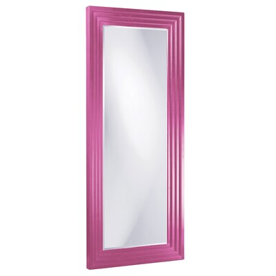 Rectangle Wood Frame Mirror Size: Tall, Finish: Hot Pink