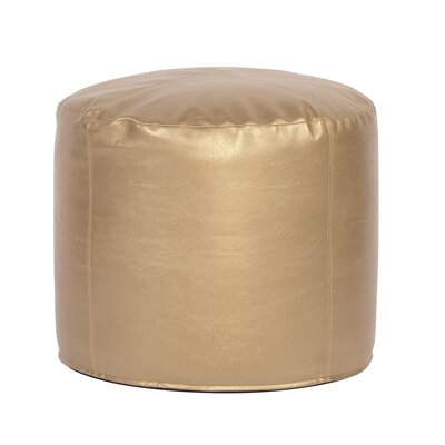 Ashworth Shimmer Pouf Upholstery: Gold