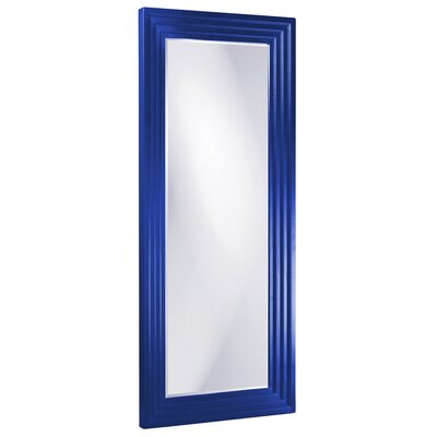 Rectangle Wood Frame Mirror Size: Tall, Finish: Royal Blue