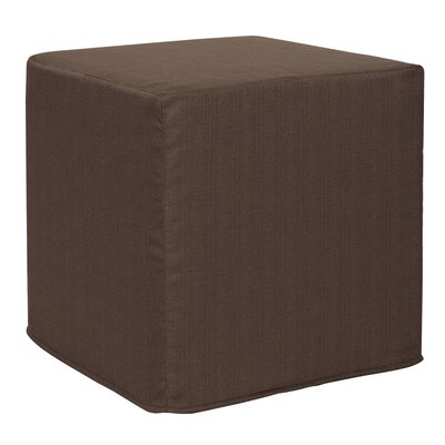 Contreras Sterling Cube Ottoman Upholstery: Chocolate