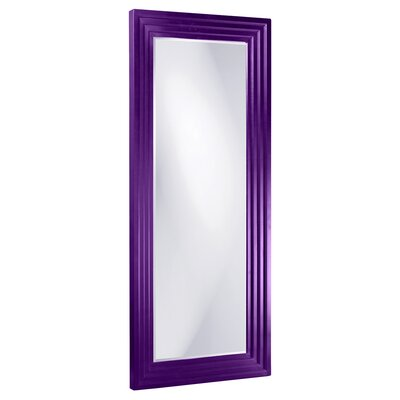 Rectangle Wood Frame Mirror Size: Tall, Finish: Royal Purple