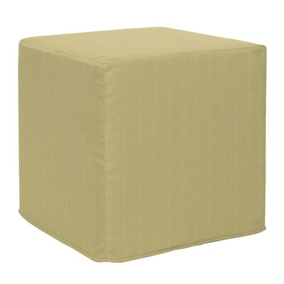 Contreras Block Sterling Ottoman Upholstery: Willow