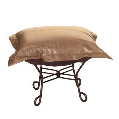 Azaria Scroll Ottoman Upholstery: Avanti Bronze
