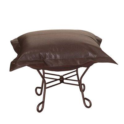 Azaria Scroll Ottoman Upholstery: Avanti Pecan