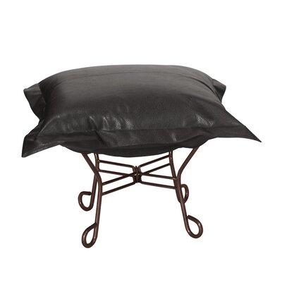 Azaria Scroll Ottoman Upholstery: Avanti Black