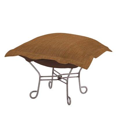 Azaria Scroll Coco Ottoman Upholstery: Topaz
