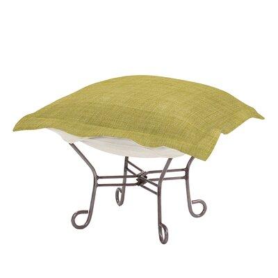 Azaria Scroll Coco Ottoman Upholstery: Peridot