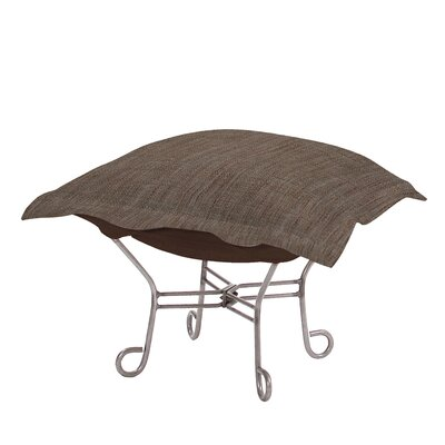 Azaria Scroll Coco Ottoman Upholstery: Slate