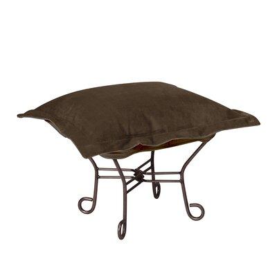 Azaria Scroll Ottoman Frame: Mahogany, Upholstery: Bella Chocolate
