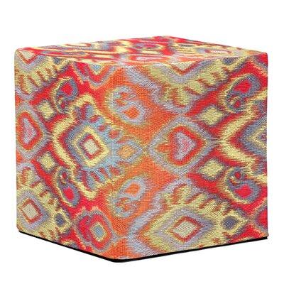 Bedel Block Ottoman Upholstery: Opal Fire