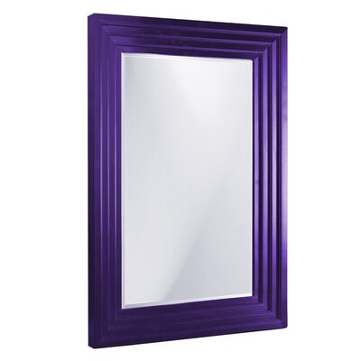 Rectangle Wood Frame Mirror Finish: Royal Purple, Size: Small