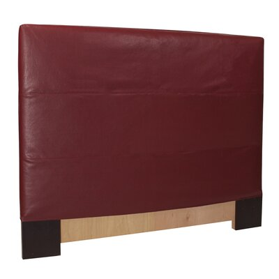 Lorena Upholstered Panel Headboard Size: Full / Queen, Upholstery: Apple - Red