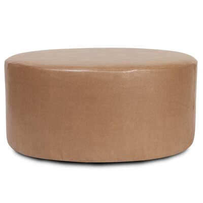 Round Polyester Ottoman Slipcover Upholstery: Bronze