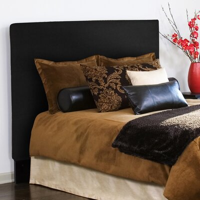 Lorena Upholstered Panel Headboard Size: Full / Queen, Upholstery: Black