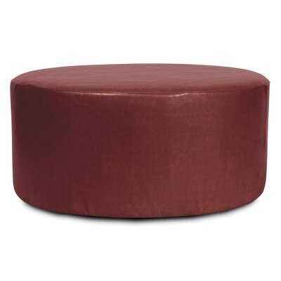 Bell Haven Round Polyester Ottoman Slipcover Upholstery: Apple - Red