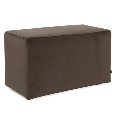 Mattingly Ottoman Slipcover Upholstery: Chocolate
