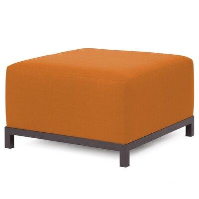 Alyssia Ottoman Upholstery: Canyon, Finish: Mahogany