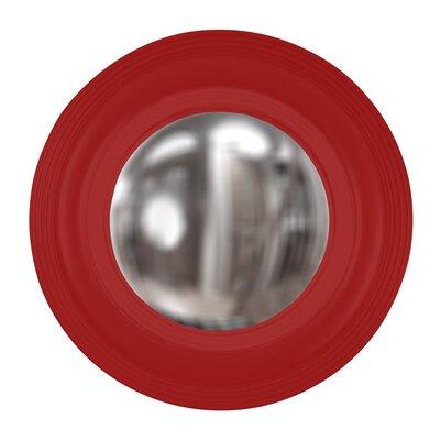 Round Wood Mirror Finish: Red