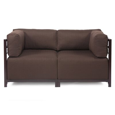 Woodsen Loveseat Frame Finish: Mahogany, Upholstery: Polyester - Sterling Chocolate