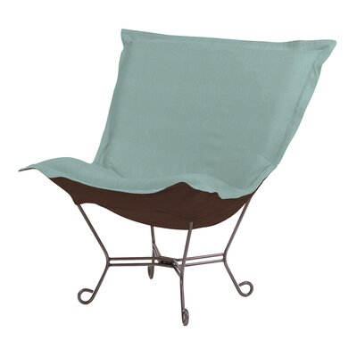 Azaria Scroll Sterling Lounge Chair Color: Breeze