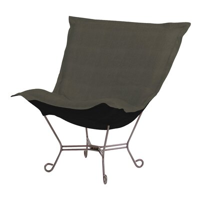 Azaria Scroll Sterling Lounge Chair Upholstery: Charcoal