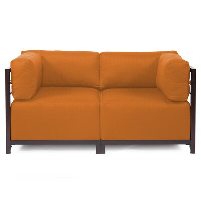Woodsen Loveseat Upholstery: Polyester - Sterling Canyon, Frame Finish: Mahogany