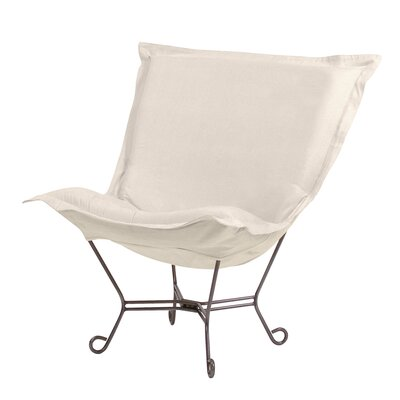 Azaria Scroll Sterling Lounge Chair Upholstery: Sand