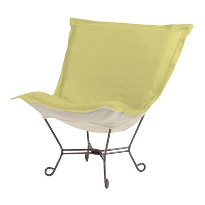 Azaria Scroll Sterling Lounge Chair Color: Willow