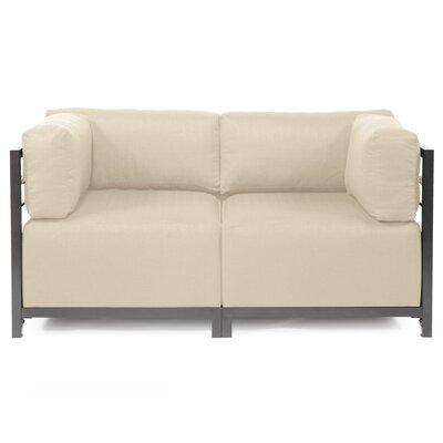 Woodsen Loveseat Frame Finish: Titanium, Upholstery: Polyester - Sterling Sand