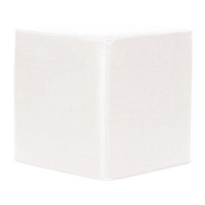 Contreras Block Avanti Ottoman Upholstery: White