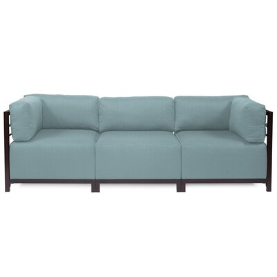 Alyssia 3 Seater Sofa Upholstery: Breeze, Finish: Mahogany