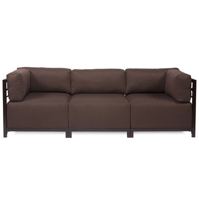 Alyssia 3 Seater Sofa Upholstery: Chocolate, Finish: Mahogany
