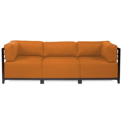 Alyssia 3 Seater Sofa Upholstery: Canyon, Finish: Mahogany