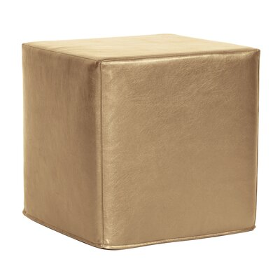 Contreras Block Shimmer Ottoman Upholstery: Gold