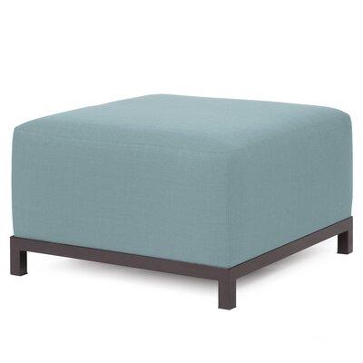 Alyssia Ottoman Upholstery: Breeze, Finish: Mahogany