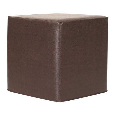 Contreras Avanti Cube Ottoman Upholstery: Pecan